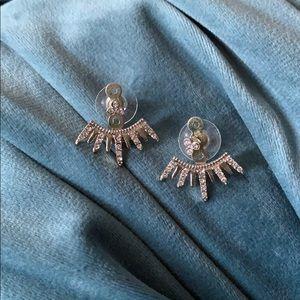 Silver toned multi use earrings